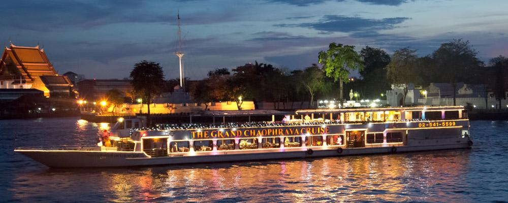 夜遊湄南河豪華遊輪昭披耶公主號+自助餐套票-1